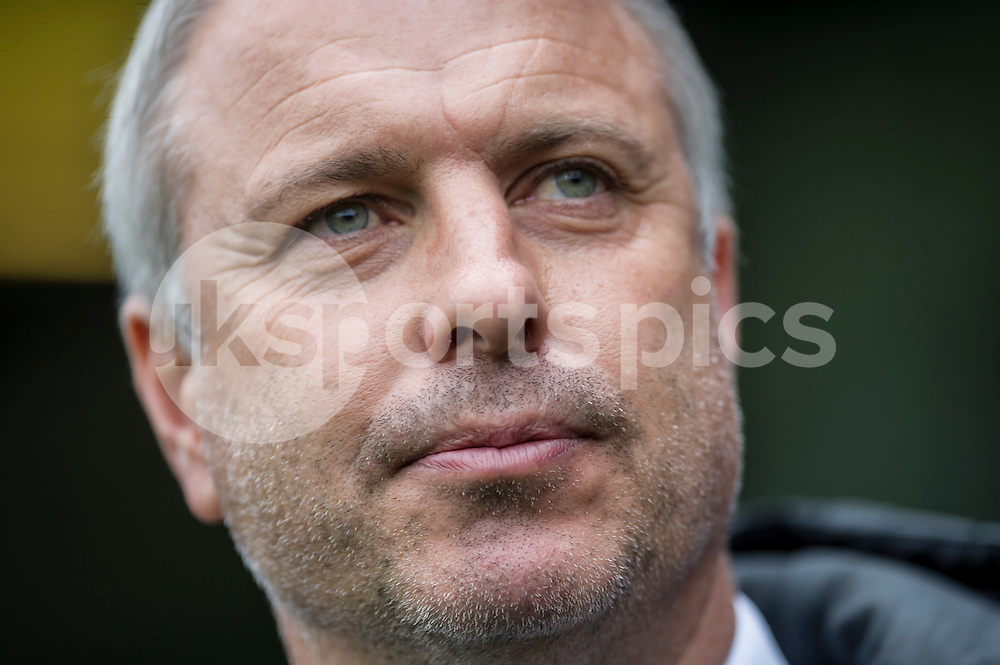 Kit Symons manager of Fulham during the Sky Bet Championship match between Fulham and Reading at Craven Cottage, London, England on 24 October 2015. Photo by Salvio Calabrese.