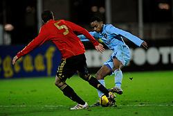 17-11-2009 VOETBAL: JONG ORANJE - JONG SPANJE: ROTTERDAM<br /> Nederland wint met 2-1 van Spanje / Joshua John<br /> ©2009-WWW.FOTOHOOGENDOORN.NL