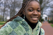 Student Fatoumata Dounbia of West Africa stops for a photo on O.U.'s campus on Wednesday, 4/11/07.