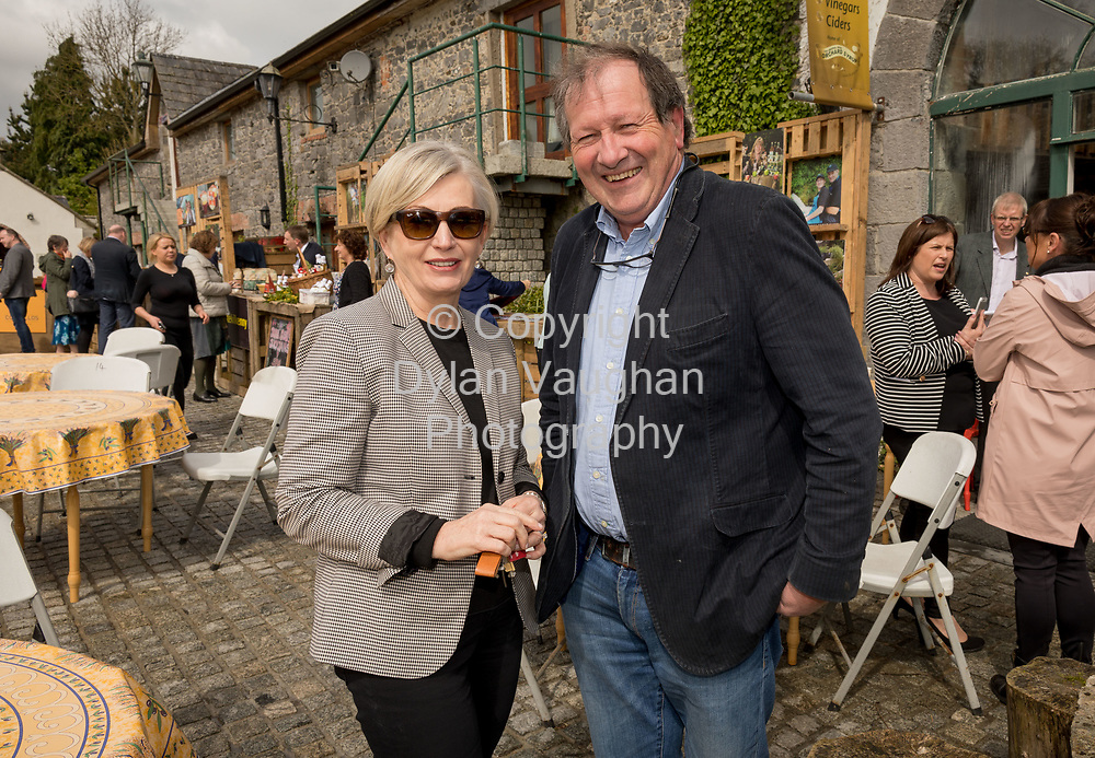 Repro Free No charge for Repro<br /> <br /> 24-4-17<br /> <br /> Helen Carroll of RTE&rsquo;s Ear to the Ground launched the next phase of #TasteKilkenny on Monday, 24th April at a lunch event at Highbank Orchards &amp; Distillery, Cuffesgrange, Co Kilkenny.<br /> <br /> Pictured at the launch were Kathleen Moran, Director of the Kilkenny Design Centre and Tony Walsh.<br />  <br /> An afternoon of tasting and presentations took place, including a welcome address by Cllr Matt Doran, Cathaoirleach and an update on the #TasteKilkenny initiative by Fiona Deegan. Followed by the official launch of the #TasteKilkenny website and videos.<br />  <br /> #TasteKilkenny was established as a collective of Kilkenny based producers and outlets to promote the vibrant food scene in Kilkenny and create a platform to showcase the very best of local food production. For more information see: www.TasteKilkenny.ie.<br /> <br /> Picture Dylan Vaughan.
