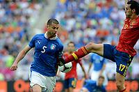 "THIAGO MOTTA (Italia), Alvaro ALBEOLA (Spagna)<br /> Danzica 10/06/2012  ""GDANSK ARENA""<br /> Football calcio Europeo 2012  Spagna Vs Italia <br /> Football Calcio Euro 2012<br /> Foto Insidefoto Alessandro Sabattini"