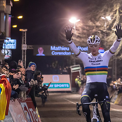 2019-12-29: Cycling: Superprestige: Diegem: Mathieu van der Poel wins in the night of Diegem