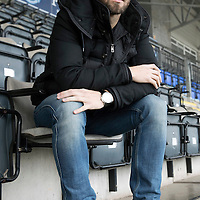 St Johnstone defender Richie Foster who has just signed a new contract with saints pictured ahead of tomorrow night's game against Partick Thistle..<br />Picture by Graeme Hart.<br />Copyright Perthshire Picture Agency<br />Tel: 01738 623350  Mobile: 07990 594431