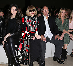 Kendal Kardashian, Anna Wintour ,Sir Philip Green and Kate Moss in there front row at the Topshop Unique show at London Fashion Week A/W 14,  Sunday, 16th February 2014. Picture by Stephen Lock / i-Images