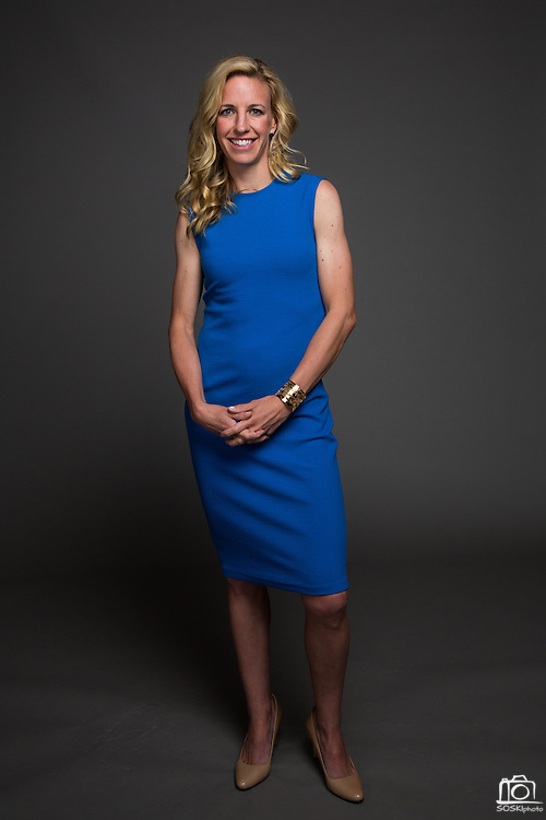 FOX Sports announcer Aly Wagner poses for a portrait at Sharon Heights Golf & Country Club in Menlo Park, California, on May 4, 2015. (Stan Olszewski/SOSKIphoto for FOX Sports)