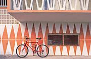 Miami Modern (MiMo) design on a small, Miami Beach apartment building on Ocean Drive.