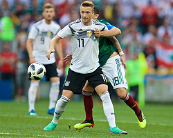 MOSCOW, RUSSIA - Sunday, June 17, 2018: Germany's Marco Reus during the FIFA World Cup Russia 2018 Group F match between Germany and Mexico at the Luzhniki Stadium. (Pic by David Rawcliffe/Propaganda)