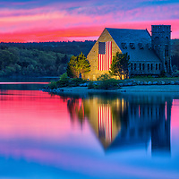 Abandoned Old Stone Church in West Boylston of Central Massachusetts on a beautiful spring evening at sunset. New England sunset colors beautifully framed this historic landmark while church and sky colors reflecting in the Wachusetts Reservoir. <br /> <br /> Massachusetts West Boylston Old Stone Church photography pictures are available as museum quality photo, canvas, acrylic, wood or metal prints. Wall art prints may be framed and matted to the individual liking and interior design decoration needs:<br /> <br /> https://juergen-roth.pixels.com/featured/new-england-sunset-colors-at-the-old-stone-church-juergen-roth.html<br /> <br /> Good light and happy photo making!<br /> <br /> My best,<br /> <br /> Juergen