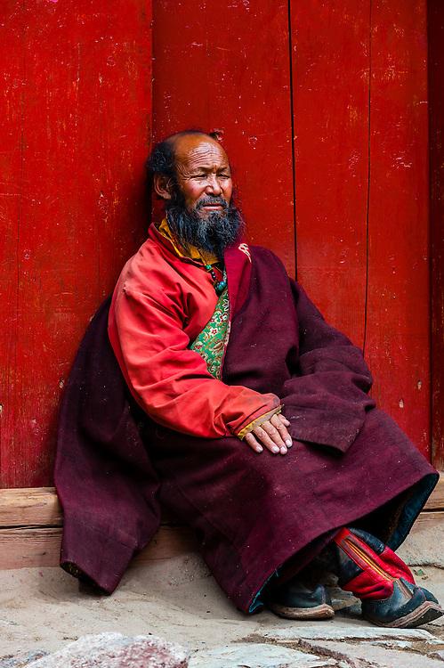 Tsurphu Monastery, Gurum, Tibet (Xizang), China.