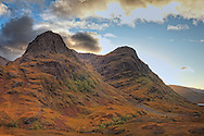 Gearr Aonach (Short Ridge) and Aonach Dubh (Black Ridge) are located in the Glencoe region of the Scottish Highlands and is managed by  the Scottish National Trust.