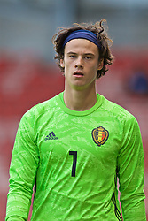 WREXHAM, WALES - Friday, September 6, 2019: Belgium's goalkeeper Mile Svilar during the UEFA Under-21 Championship Italy 2019 Qualifying Group 9 match between Wales and Belgium at the Racecourse Ground. (Pic by Laura Malkin/Propaganda)