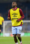 West Ham United midfielder Pedro Obiang (14) in warm up during the Premier League match between Brighton and Hove Albion and West Ham United at the American Express Community Stadium, Brighton and Hove, England on 5 October 2018.