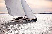 Squaw, Herreshoff S Class, sailing sea trials.