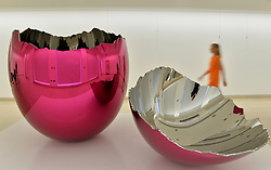 Pictured is 'Cracked Egg' by Jeff Koons which goes on sale at Christie's Auction House as part of the Post War and Contemporary Art sale season this February.<br /> Friday, 7th February 2014. Picture by Ben Stevens / i-Images