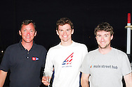 David Bargehr and Lucas Mahr accept the award for 3rd Place at the 470 Nationals at Coconut Grove Sailing Club