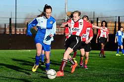 Bradley Stoke Community school represent Bristol Rovers at the EFL Cup held at South Bristol Sports Centre playing against Exeter City - Mandatory by-line: Dougie Allward/JMP - 05/01/2017 - FOOTBALL - South Bristol Sports Centre - Bristol, England - EFL Girls Cup