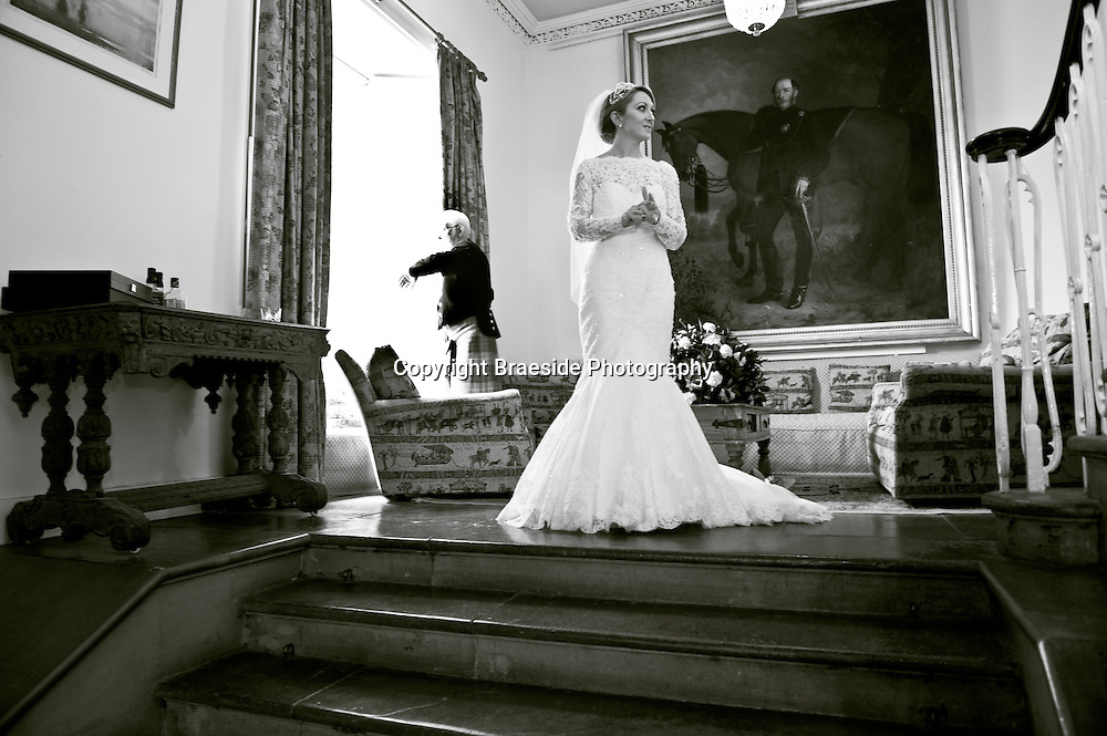 Picture by Christian Cooksey/Braeside Photography. The wedding of Katherine and Kenny at Boturich Castle.