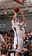 Linn-Mar's Zach Bohannon (33) shoots a basket during the second half of their game at Linn-Mar High School in Marion on Tuesday February 10, 2009. Linn-Mar defeated Jefferson 62-56.