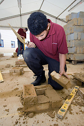 Student on a Construction course at Barnet College North London