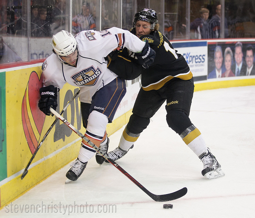 February 22, 2012: The Oklahoma City Barons play the Texas Stars in an American Hockey League game at the Cox Convention Center in Oklahoma City.