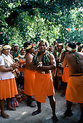 Local people at cultural event in Tuvalu, South Pacific