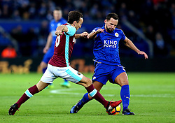 Daniel Drinkwater of Leicester City tackles Mark Noble of West Ham United - Mandatory by-line: Robbie Stephenson/JMP - 31/12/2016 - FOOTBALL - King Power Stadium - Leicester, England - Leicester City v West Ham United - Premier League