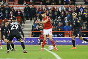 Nottingham Forest defender Tobias Figueiredo passes the ball during the EFL Sky Bet Championship match between Nottingham Forest and Charlton Athletic at the City Ground, Nottingham, England on 11 February 2020.