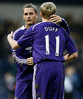 Photo: Steve Bond/Richard Lane Photography. West Bromwich Albion v Newcastle United. Barclays Premiership. 07/02/2009. Peter Lovenkrands (L) and Damien Duff (R) celebrate the win