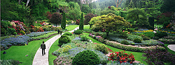 Victoria, BC, Canada  14/maio/2005.Butchart Gardens, os jardins construidos pela familia Butchart, hoje abertos a visitacao publica./ The Butchart Gardens are located in Brentwood Bay, British Columbia, a small village on the Saanich Peninsula that is part of Greater Victoria on Vancouver Island. They were created by Jennie Butchart..Foto Marcos Issa/Argosfoto