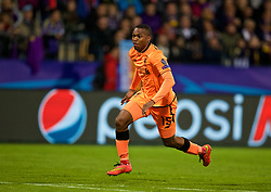 MARIBOR, SLOVENIA - Tuesday, October 17, 2017: Liverpool's Daniel Sturridge during the UEFA Champions League Group E match between NK Maribor and Liverpool at the Stadion Ljudski vrt. (Pic by David Rawcliffe/Propaganda)
