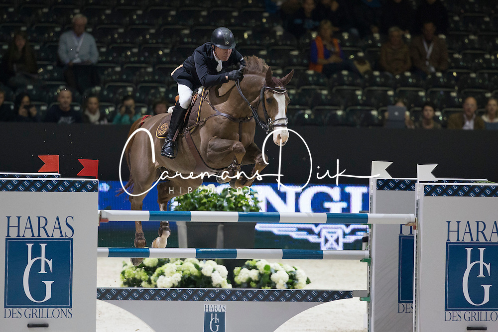 Whitaker Michael (GBR) - Viking<br /> Longines FEI World Cup&ocirc; Jumping Final 2013/2014<br /> Lyon 2014<br /> &copy; Dirk Caremans