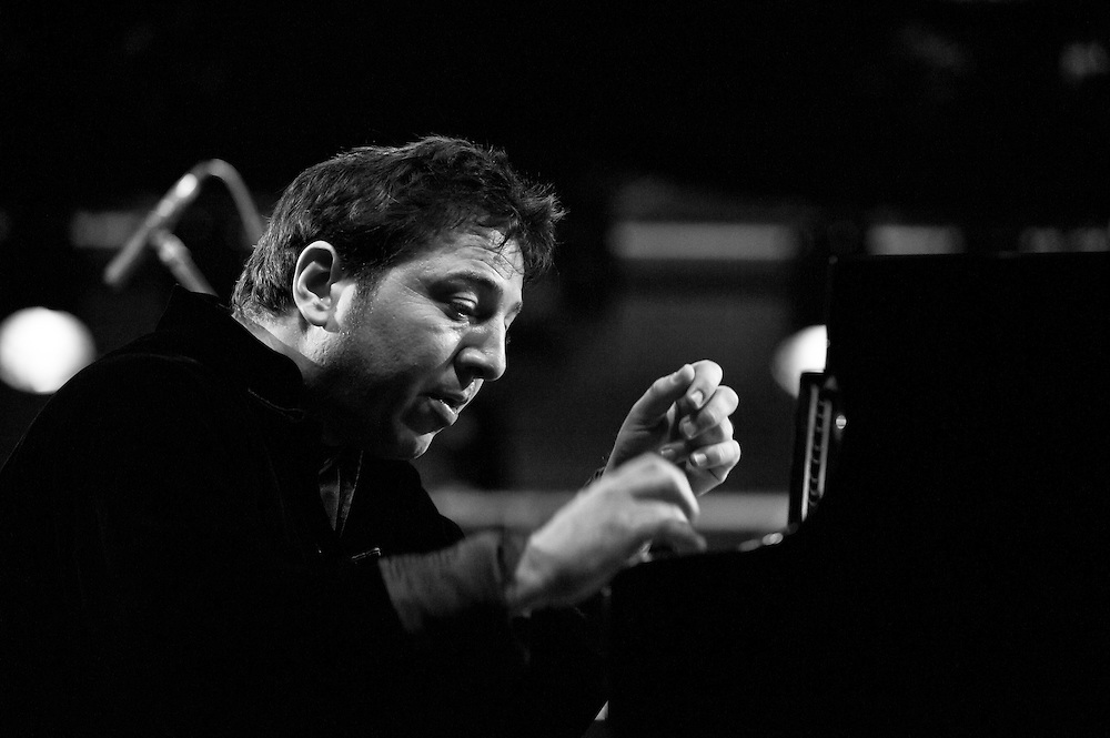 Fazil Say performing live during the Gala concert at the ZMF music festival in Freiburg, Germany on July 7, 2013. Photo: Miroslav Dakov