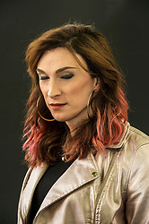 Pictured: Transgender Juno Dawson is a multi award winning author and journalist.<br /> Book fanatics headed to Charlotte Square in Edinburgh which is the hub of the international Book Festival to meet the authors and also to meet up with fellow fans of the printed word.<br /> <br /> <br /> Ger Harley   EEm 18 August 2017