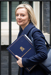 © Licensed to London News Pictures. 21/02/2017. London, UK. Justice Secretary and Lord Chancellor Liz Truss arriving in Downing Street to attend a Cabinet meeting this morning. Photo credit : Tom Nicholson/LNP