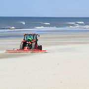 Beach cleaning, Wildwood Crest, New Jersey