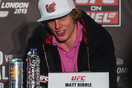 LONDON, ENGLAND, FEBRUARY 13, 2013: Matthew Riddle during the pre-fight press conference for UFC on Fuel TV 7 inside London Shootfighters Gym in Park Royal, London, England on Wednesday, February 13, 2013 © Martin McNeil