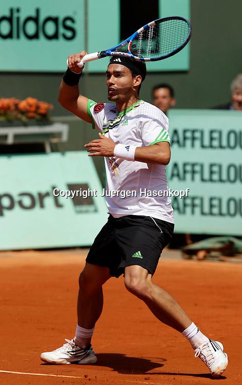 French Open 2011, Roland Garros,Paris,ITF Grand Slam Tennis Tournament, Fabio Fognini (ITA),.Einzelbid, Aktion