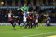 Joe Lumley punches clear during the Sky Bet Championship match between Blackburn Rovers and Queens Park Rangers at Ewood Park, Blackburn, England on 12 January 2016. Photo by Pete Burns.
