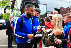Alex Jakubiak of Bristol Rovers signs autographs for fans outside Highbury Stadium  - Mandatory by-line: Matt McNulty/JMP - 27/04/2019 - FOOTBALL - Highbury Stadium - Fleetwood, England - Fleetwood Town v Bristol Rovers - Sky Bet League One