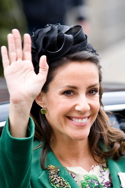 16.04.2015. Copenhagen, Denmark.<br /> Princess Marie arrive to the Town Hall during festivities for the 75th birthday of Queen Margrethe II of Denmark.<br /> Photo:© Ricardo Ramirez