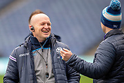 Scotland head coach Gregor Townsend is all smiles during the Captain's training run for Scotland at BT Murrayfield, Edinburgh, Scotland on 8 March 2019 ahead of the Guinness 6 Nations match against Wales.