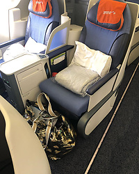 """Claudia Effenberg releases a photo on Instagram with the following caption: """"Danke Aeroflot f\u00fcr das geile Upgrade! Werbung da Markenerkennung\ud83d\udc96\ud83d\udc4dDankbar\ud83d\ude07\ud83e\udd2a\ud83d\ude0d"""". Photo Credit: Instagram *** No USA Distribution *** For Editorial Use Only *** Not to be Published in Books or Photo Books ***  Please note: Fees charged by the agency are for the agency's services only, and do not, nor are they intended to, convey to the user any ownership of Copyright or License in the material. The agency does not claim any ownership including but not limited to Copyright or License in the attached material. By publishing this material you expressly agree to indemnify and to hold the agency and its directors, shareholders and employees harmless from any loss, claims, damages, demands, expenses (including legal fees), or any causes of action or allegation against the agency arising out of or connected in any way with publication of the material."""
