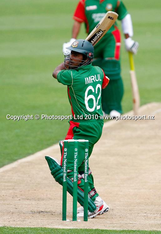 Bangladeshi batsman Imrul Kayes. International One Day Cricket, New Zealand Blackcaps v Bangladesh, AMI Stadium, Christchurch, New Zealand. Thursday 11 February 2010. Photo: Simon Watts/PHOTOSPORT