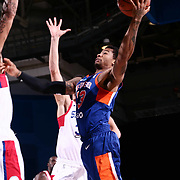 Westchester Knicks Guard TREY BURKE (23) drive to the basket in the second half of a NBA G-league regular season basketball game between the Delaware 87ers and the Westchester Knicks (New York Knicks) Tuesday, Nov. 07, 2017, at The Bob Carpenter Sports Convocation Center in Newark, DEL
