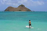 Standup Paddleboard, Lanikai, Oahu, Hawaii