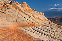 Colorful sandstone slickrock cross-bedding, Vermilion Cliffs Wilderness Arizona