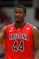 Feb 4, 2012; Stanford CA, USA; Arizona Wildcats forward Solomon Hill (44) before a free throw against the Stanford Cardinal during the first half at Maples Pavilion.  Arizona defeated Stanford 56-43. Mandatory Credit: Jason O. Watson-US PRESSWIRE