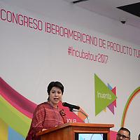 Toluca, México.- (Junio 20, 2017).- Rosalinda Benitez, Secretaaria de turismo en el Edo Mex, durante la inauguracion del 4 congreso Iberoamericano de Producto Turístico . Agencia MVT / Arturo Hernández.