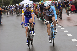 July 2, 2017 - Liege, Belgique - LIEGE, BELGIUM - JULY 2 : BAKELANTS Jan (BEL) Rider of Team AG2R La Mondiale is talking to VERMOTE Julien (BEL) Rider of Quick-Step Floors Cycling team during stage 2 of the 104th edition of the 2017 Tour de France cycling race, a  stage of 203 kms between Dusseldorf and Liege on July 02, 2017 in Liege, Belgium, 2/07/2017 (Credit Image: © Panoramic via ZUMA Press)