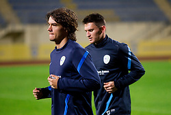 Rene Krhin and Andraz Kirm during practice session of Slovenian National football team prior to the friendly match against Former Yugoslav republic of Macedonia on November 12, 2012 in Domzale, Slovenia. (Photo By Vid Ponikvar / Sportida)